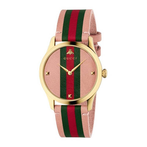 GUCCI: Women's watch G-Timeless YA1264118 in pink - www.choubrand.com