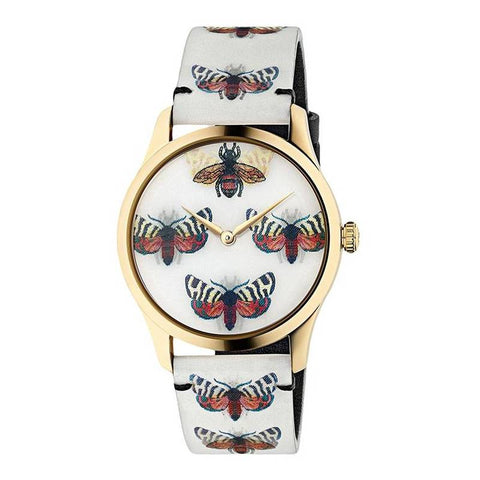 GUCCI: Women's watch G-Timeless YA1264109 in white and gold - www.choubrand.com