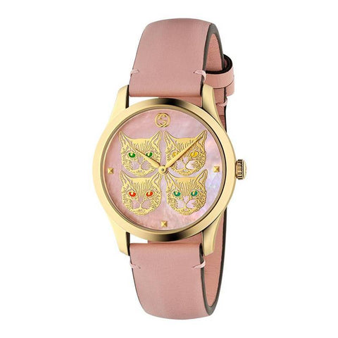 GUCCI: Women's watch G-Timeless YA1264132 in pink and gold - www.choubrand.com