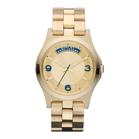 This beautiful Baby Dave MBM3162 women's watch by Marc Jacobs with contrasting colors in blue and gold is the perfect choice to give your looks that special touch. - www.choubrand.com