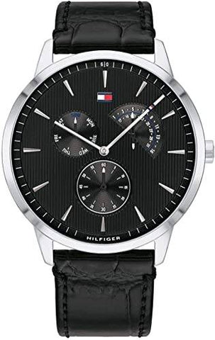 TOMMY HILFIGER: Men's watch 1710391 in black and silver - www.choubrand.com