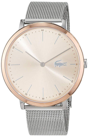 LACOSTE: Women's watch Moon 2001002 in silver and rose gold - www.choubrand.com