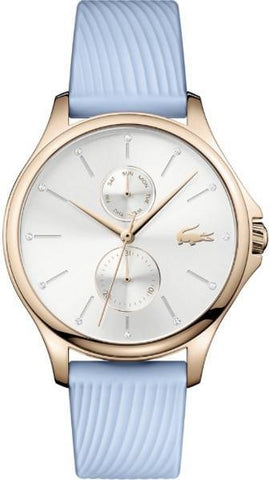 LACOSTE: Women's Watch Kea 2001024 in light blue/gold/white - www.choubrand.com