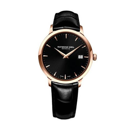 A sleek all black watch by Raymond Weil. Only available in ChouBrand.