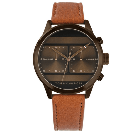 TOMMY HILFIGER: Men's watch 1791594 in brown - www.choubrand.com