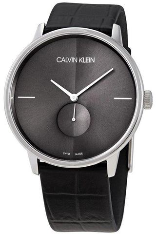 Calvin Klein's Accent K2Y211C3 men's watch is a timeless model that will be the best choice for any occassion or outing. Get this watch to impress everyone around you whenever you have an event or special moment in your life. Its beautiful sleek design in a mix of black and silver will make this piece a total must have in your collection! - www.choubrand.com