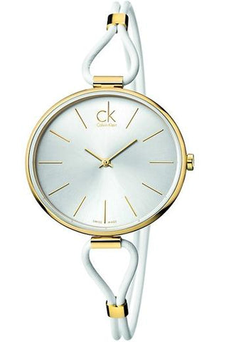 CALVIN KLEIN: Selection K3V231L6 women's watch in white and gold - www.choubrand.com