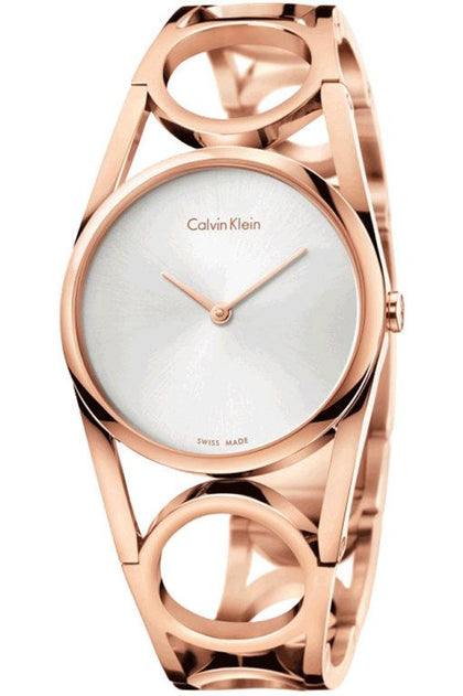 CALVIN KLEIN: Round K5U2M646 women's watch in rose gold - www.choubrand.com