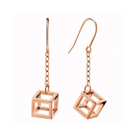 CALVIN KLEIN: Daring KJ3HPE100200 earrings in rose gold - www.choubrand.com