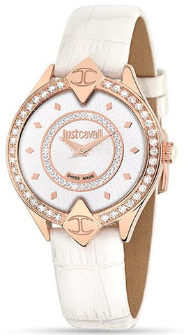 JUST CAVALLI: Sphinx R7251590502 white and rose gold women's watch - www.choubrand.com