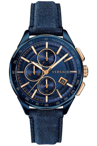 VERSACE: Men's watch Glaze VEBJ00318 in blue - www.choubrand.com