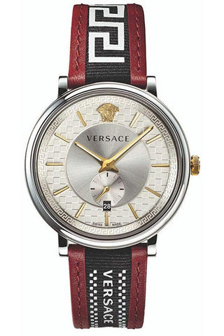 VERSACE: Men's watch V-Circle VEBQ01319 in red/silver - www.choubrand.com