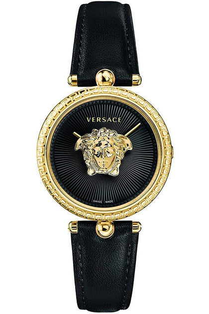 VERSACE: Women's watch Palazzo VECQ00118 in black and gold - www.choubrand.com