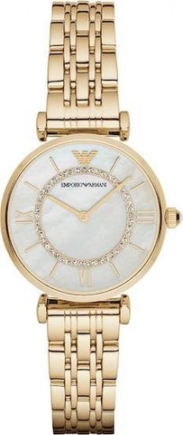 The Classic AR1907 women's watch by Emporio Armani lacquered in gold is the watch for all the women out there looking for a classy and elegant watch that will las them a lifetime. The timeless design of this piece makes it perfect for you to wear it at any event, ocassion and on day-to-day basis. - www.choubrand.com