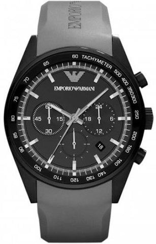 EMPORIO ARMANI: Men's watch Sportivo AR5978 in grey/black - www.choubrand.com