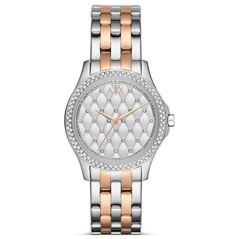 ARMANI EXCHANGE: Women's watch Hampton AX5249 in silver/rose gold - www.choubrand.com