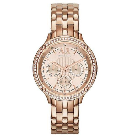 ARMANI EXCHANGE: Women's watch AX5406 in rose gold - www.choubrand.com