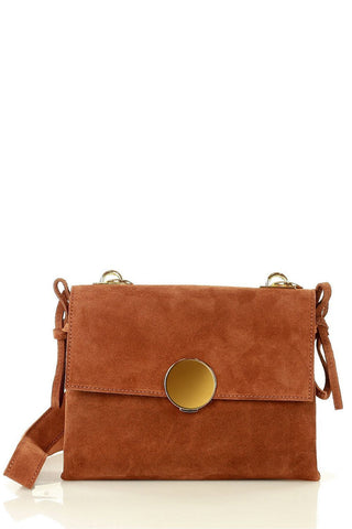 MAZZINI: Brown crossbody bag with one single strap - www.choubrand.com