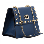 DEE OCLEPPO: Navy blue Roma Tote - www.choubrand.com