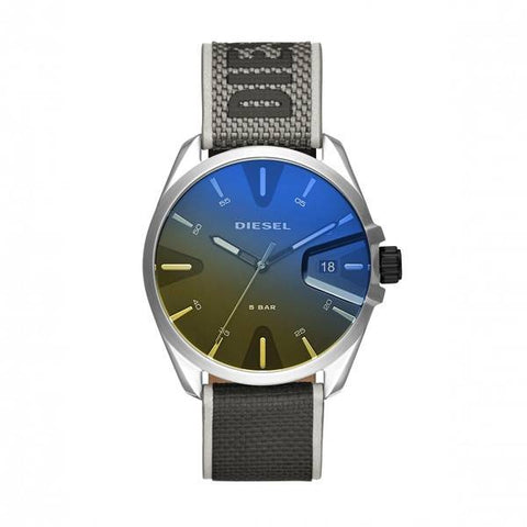 The MS9 DZ1902 by Diesel men's watch with its iridescent dial is a safe bet for all modern men looking for a unique watch to give that different flair to their style. - ChouBrand