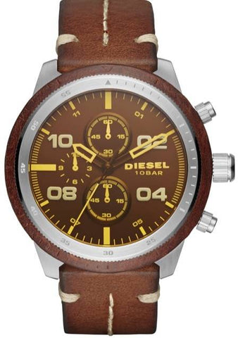 DIESEL: Men's watch Padlock DZ4440 in brown - www.choubrand.com