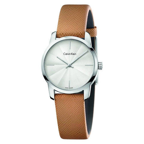 CALVIN KLEIN: Women's watch City K2G231G6 in brown and silver - www.choubrand.com
