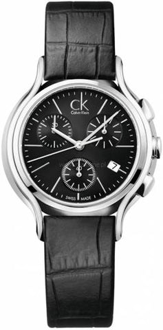 CALVIN KLEIN: Women's watch K2U291C1 in silver/black - www.choubrand.com