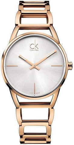 CALVIN KLEIN: Women's watch Stately K3G23626 in rose gold - www.choubrand.com