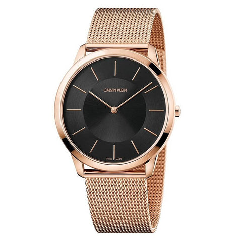 CALVIN KLEIN: Men's watch K3M2T621 in rose gold/black - www.choubrand.com
