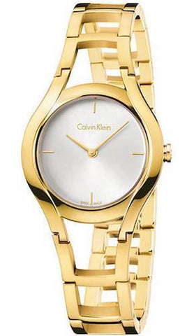 CALVIN KLEIN: Women's watch Class K6R23526 in gold - www.choubrand.com