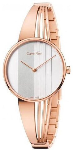 The original Damenuhr K6S2N616 design for women by Calvin Klein made of rose gold lacquered stainless steel is the perfect bet for all women with a daring, modern but at the same time elegant style. - www.choubrand.com