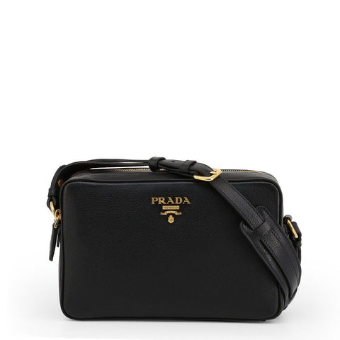 This black Prada crossbody bag represents the brand's classic and elegant style to a T. A stapple in your wardrobe and your collection, its high quality finishes and design make this bag the go-to choice for any day of your life and any style. Formal, fun, going out with your friends? This is your bag. | ChouBrand