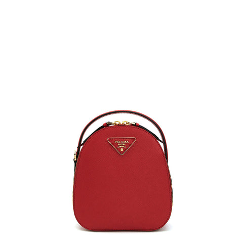 This mini red backpack that is so simple to carry was carefully hand-selected for you. Simple but classic and rich in texture, it represents PRADA, Prada's primary inspiration: an image of real life. The backpack is a must-have for modern women. You will love its sophisticated design. | ChouBrand