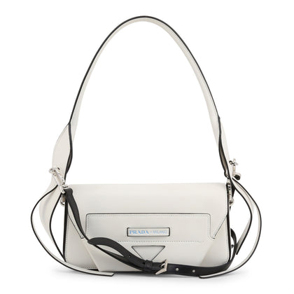 PRADA: White 1BD166 Manuelle shoulder bag