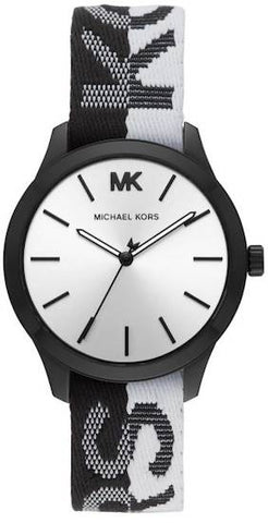 MICHAEL KORS: Women's watch Runway MK2844 in black and white - www.choubrand.com
