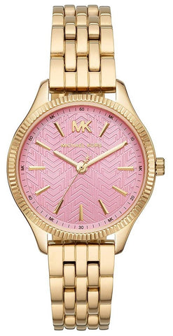 MICHAEL KORS: Women's watch Lexington MK6640 in gold and pink - www.choubrand.com