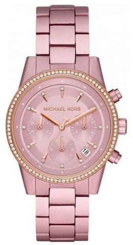 MICHAEL KORS: Women's watch Ritz MK6753 in pink and rose gold - www.choubrand.com