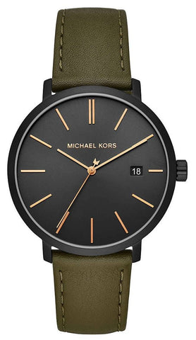 MICHAEL KORS: Men's watch Blake MK8676 in green and black - www.choubrand.com