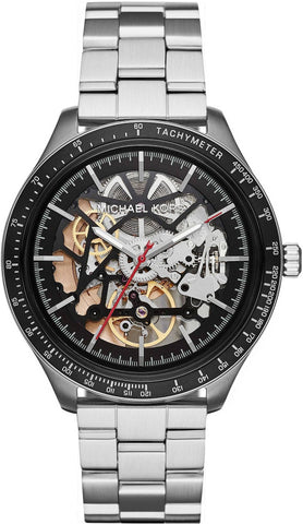 MICHAEL KORS: Men's watch Merrik MK9037 in silver/black - www.choubrand.com