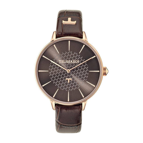 TRUSSARDI: Women's watch T-Fun R2451118501 in brown and rose gold - www.choubrand.com