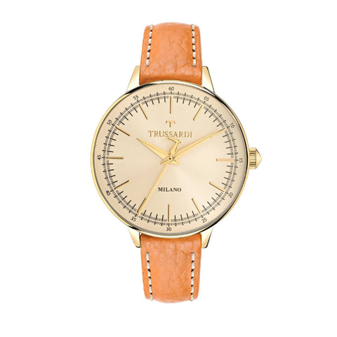 TRUSSARDI: Women's watch T-Evolution R2451120501 in brown and gold - www.choubrand.com