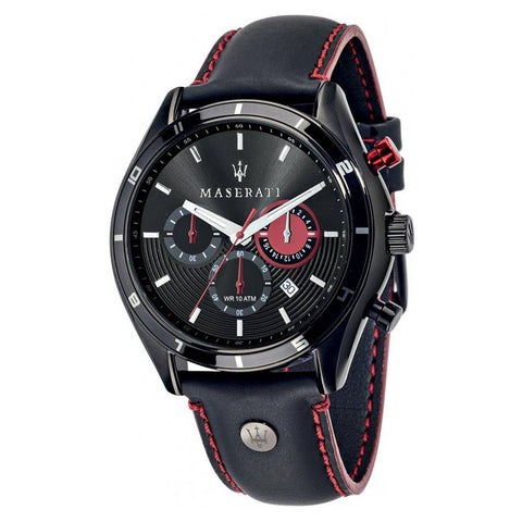 MASERATI: Black and red R8871624002 men's watch - www.choubrand.com