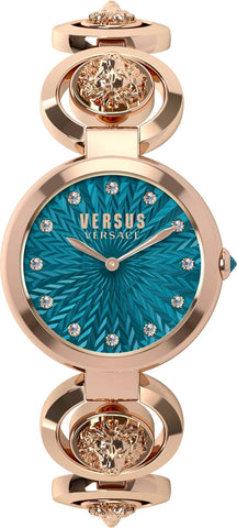 VERSUS VERSACE: Women's watch PEKING ROAD S75060017 in rose gold and turquoise - www.choubrand.com