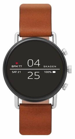 SKAGEN: Unisex Smartwatch Falster SKT5104 with brown strap - www.choubrand.com