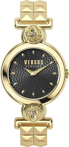 VERSUS VERSACE: Women's watch Sunnyridge VSPOL3418 in gold and black - www.choubrand.com