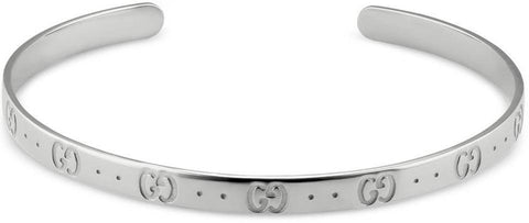 GUCCI: Icon Bracelet made of 18k white gold size 17cm - www.choubrand.com