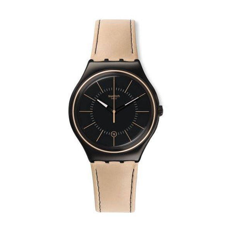 SWATCH: Men's watch Sandstorm III YWB400 in beige and black - www.choubrand.com