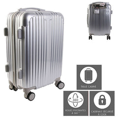 "Valise cabine ""New York"" - gris - 40 L"