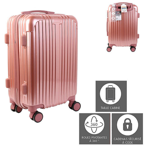 "Valise cabine ""Paris"" - rose - 40 L"