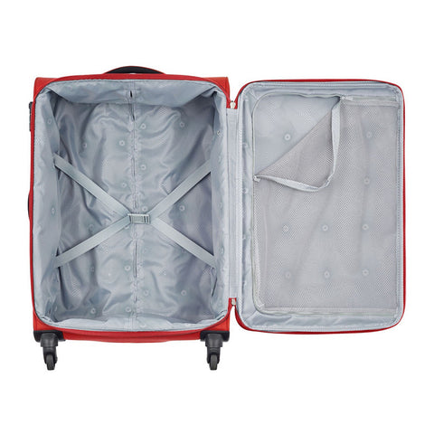 Valise cabine Banjul 4 roues 55 cm - rouge